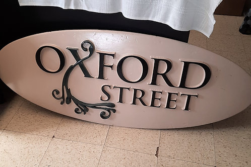 Foam Oxford Street Store Sign