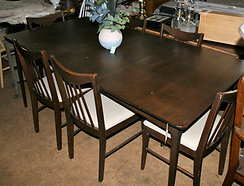 Mid-Century Modern Dining Table & 6 Chairs