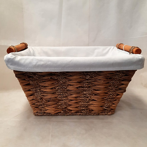 Small Basket with White Lining
