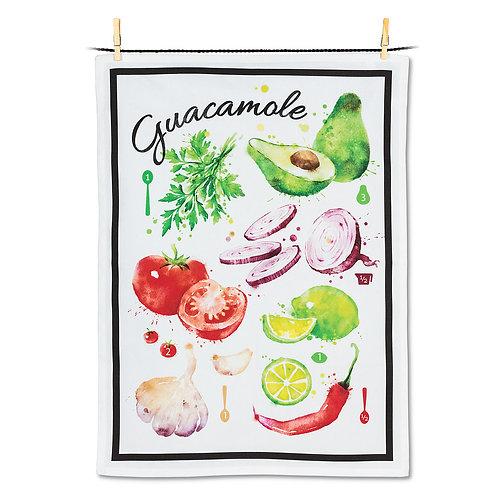 Guacamole Recipe Tea Towel