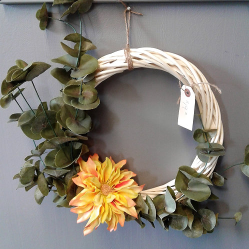 Small Wreath with Orange Flower