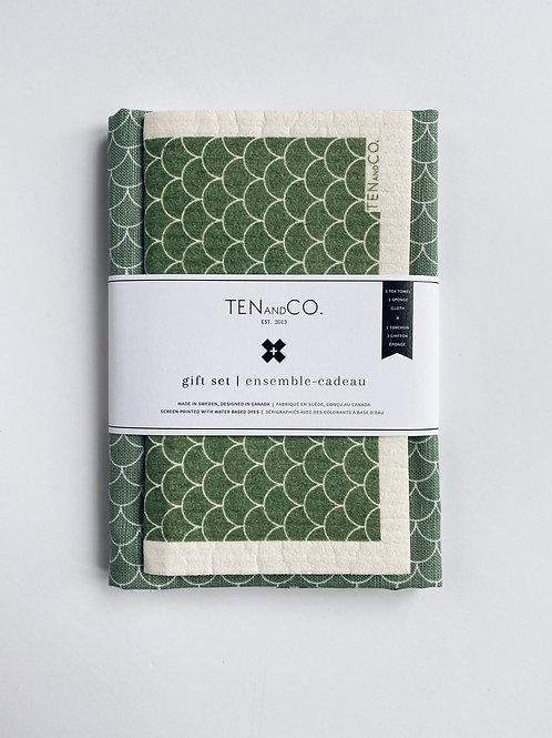 Ten & Co. Scallop Sage Gift Set