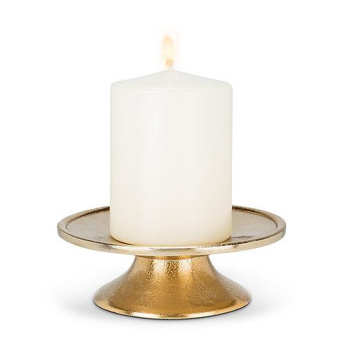 Low Pillar Plate - Gold