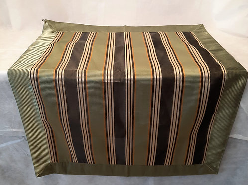 Green Striped Pillow Covers - Set of 2