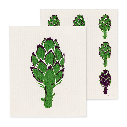 Artichoke Swedish Dishcloths