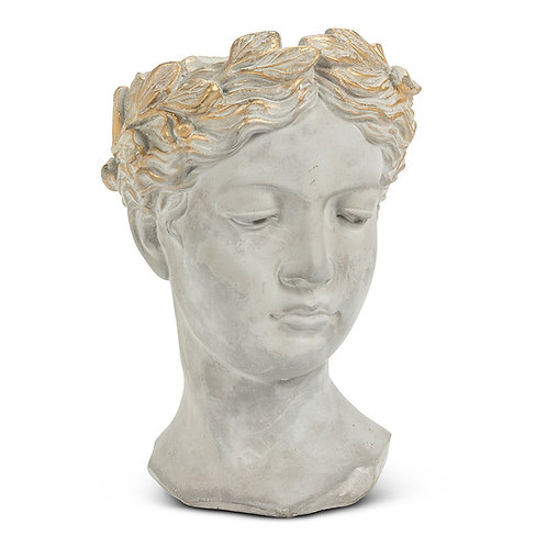 Large Aphrodite Woman Head Planter