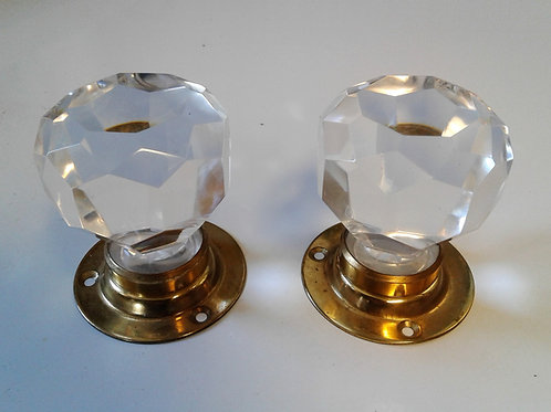 Surface Mount Glass & Brass Knobs