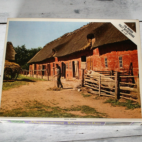 Old Farm with Thatched Roof Puzzle