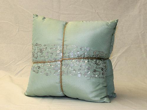 Small Aqua Pillows - Set of 2