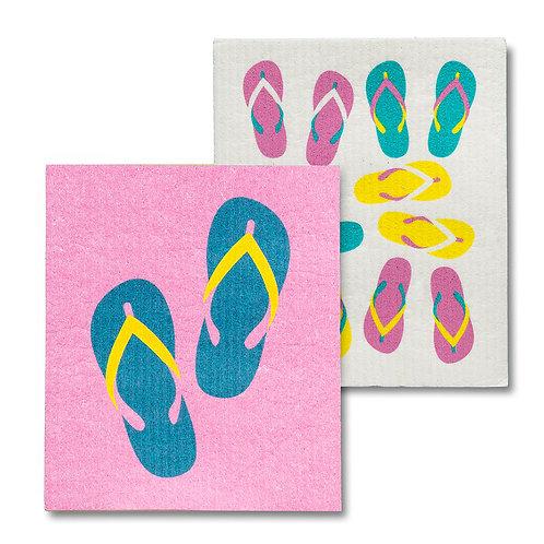 Flip Flops Dishclothes - Set of 2