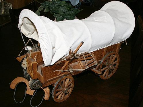Lifelike Covered Wagon Wooden Model