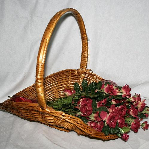 Large Basket with Burgundy Roses