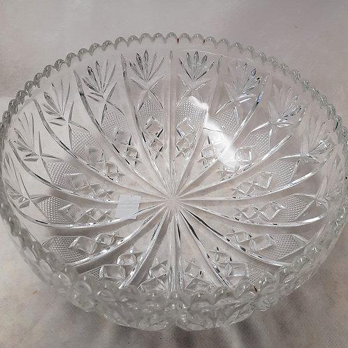 Round Heavy Crystal Bowl