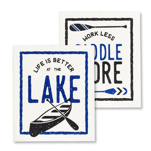 Better At The Lake Swedish Dishcloths