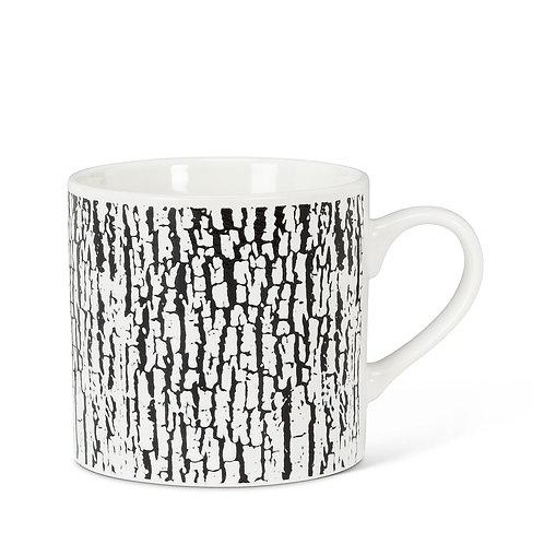 Black & White Bark Cappuccino Mug