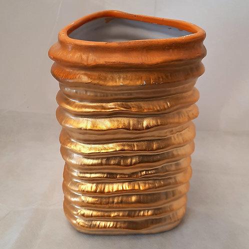 Gold Textured Vase