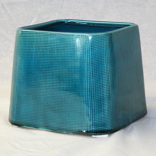 Blue Square Ceramic Vase