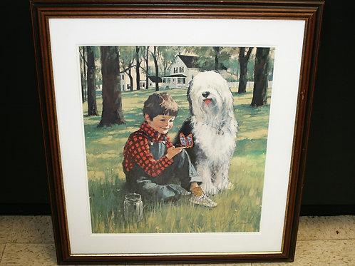 Print Boy and Dog
