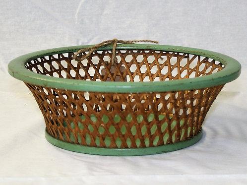 Green & Wicker Bowl