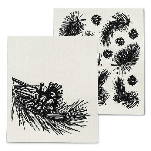Pinecone & Branch Dishclothes - Set of 2