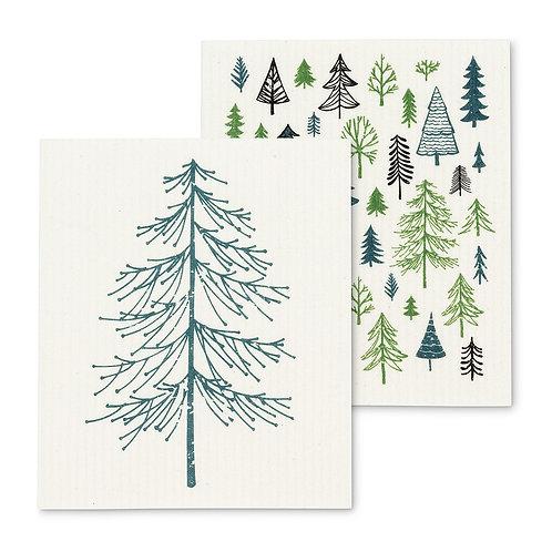 Trees Swedish Dishcloths - Set of 2