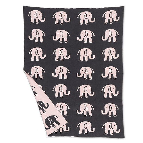 Pink Elephant Small Throw