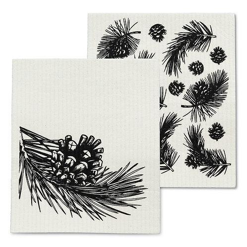 Pinecone & Branch Swedish Dishcloths - Set of 2