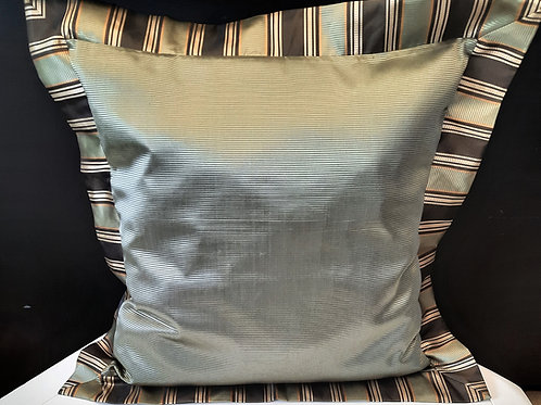 "Green Striped Pillow 32""x32"""