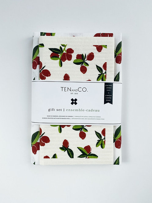 Ten & Co. Gift Set - Cranberry