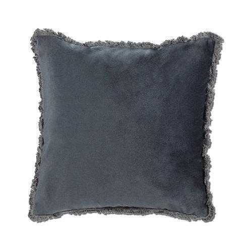 Velvet Pillow with Fringe