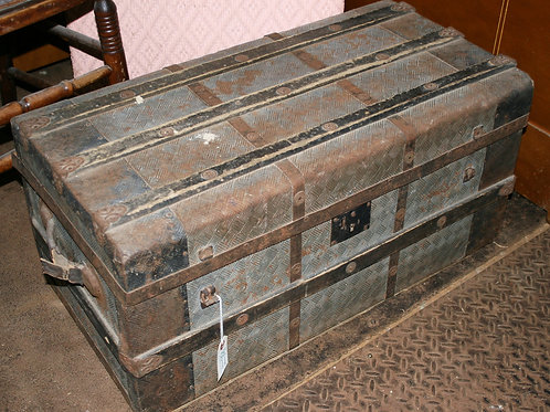 Old Wood and Metal Trunk