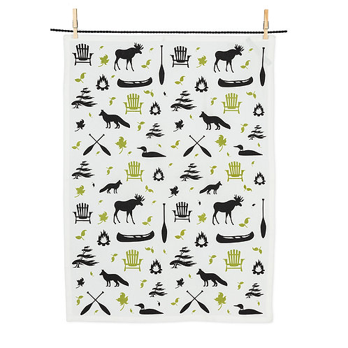 All Over Icons Tea Towel