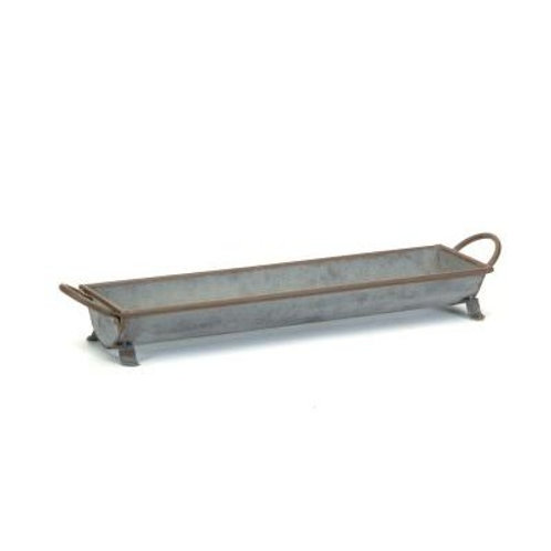 Medium Galvanized Planter 27""