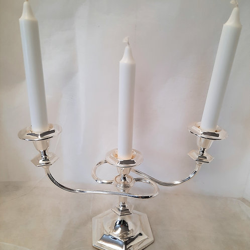 Silver Three Candle Candelabra