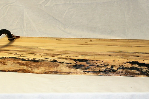 Spalted Maple Charcuterie Board with Handles