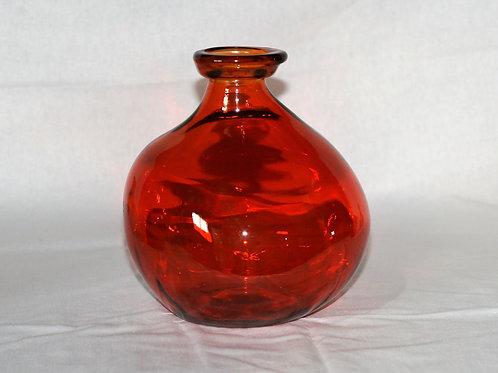 "Orange Glass Vase 7.5"" High"
