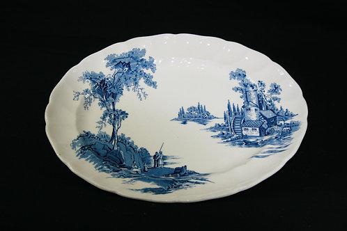 Johnson Bros. Platter Old Mill Pattern Blue