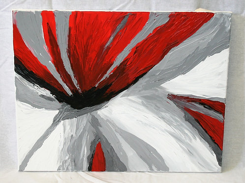 Black & Red Oil Painting Original
