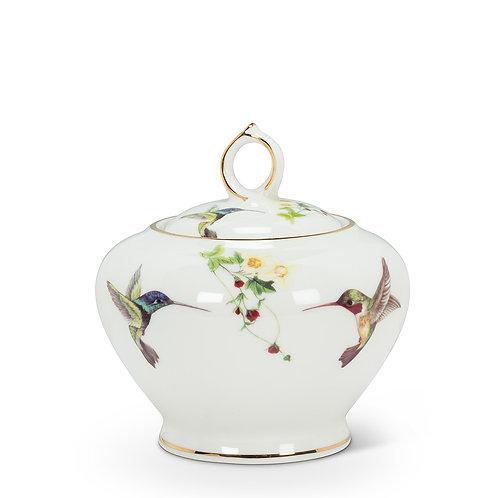 Hummingbird Covered Pot