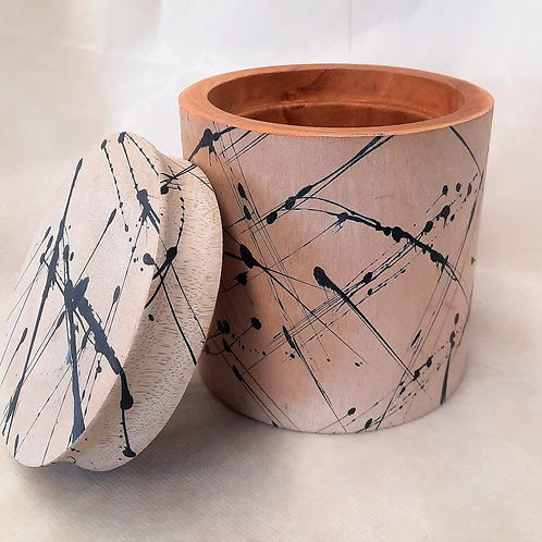 Wooden Two Piece Canister
