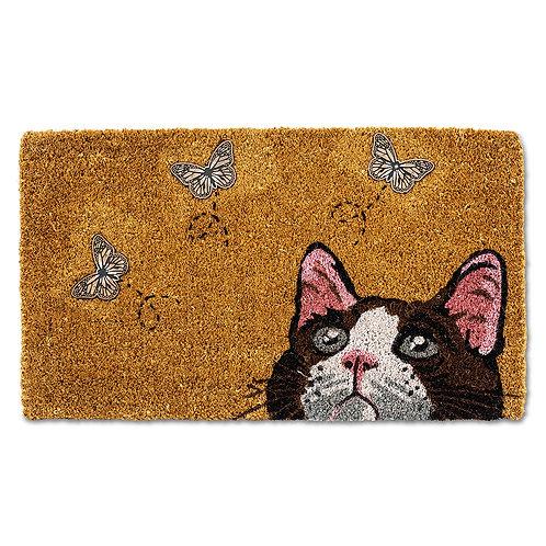 Cat with Butterflies Doormat