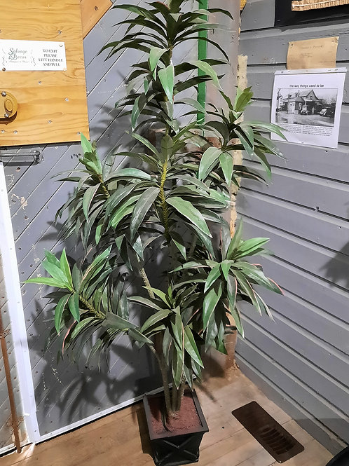Five Foot Artificial Tree in Black Pot