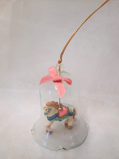 Small Horse in Bell Ornament