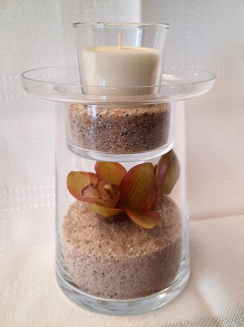 2 Piece Flower/Candle Set