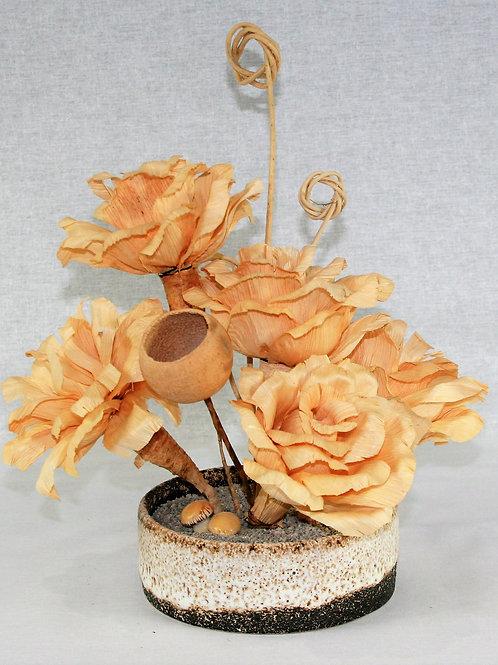 Unique Small Vase with Plant