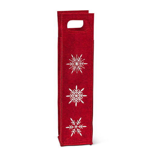 Red Snowflake Wine Bag