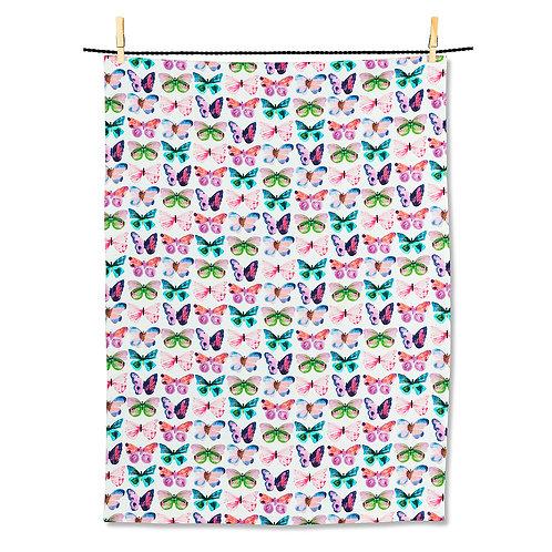 Watercolour Butterfly Tea Towel