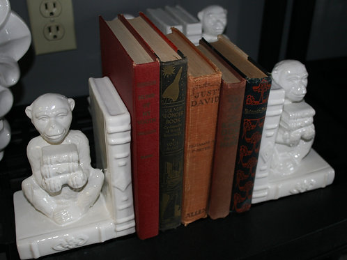 Monkey Bookends - New