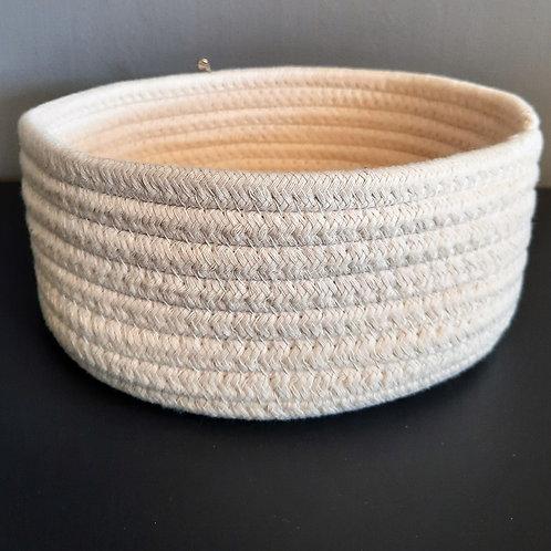 "9"" Round Fabric Storage - 2 Colours"