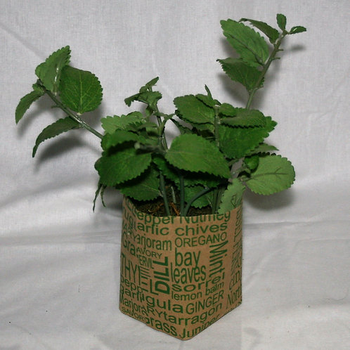 Brown Paper Bag with Greenery